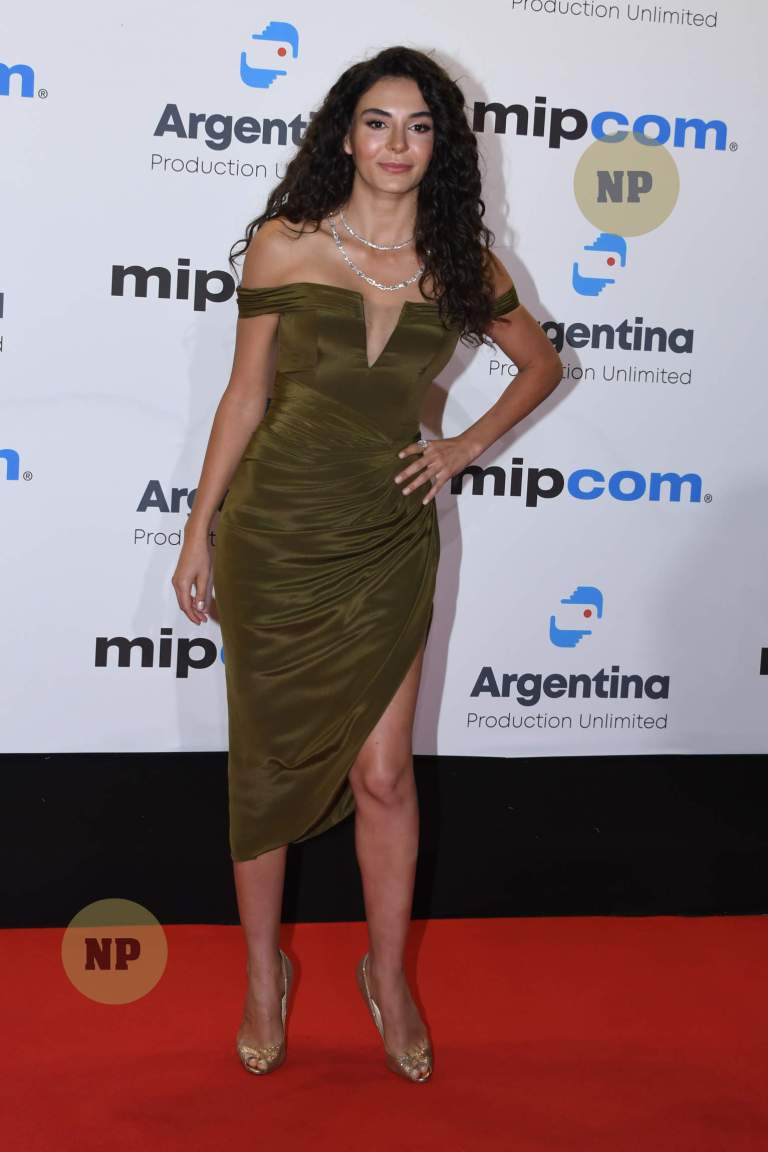 Ebru Sahin attends the opening ceremony of MIPCOM 2019 on