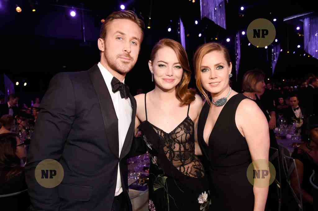 Ryan Gosling, Emma Stone and Amy Adams
